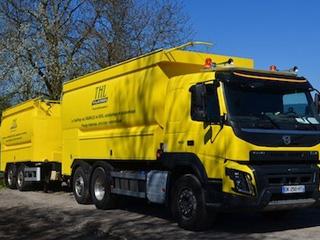 SGA - Livraison de granulés de bois en vrac par camion souffleur